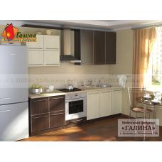 Кухня на заказ с пластиковыми фасадами - КП-1