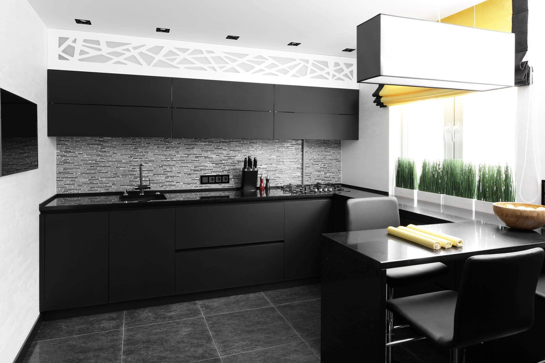 кухни черного цвета фото нас поздравительные
